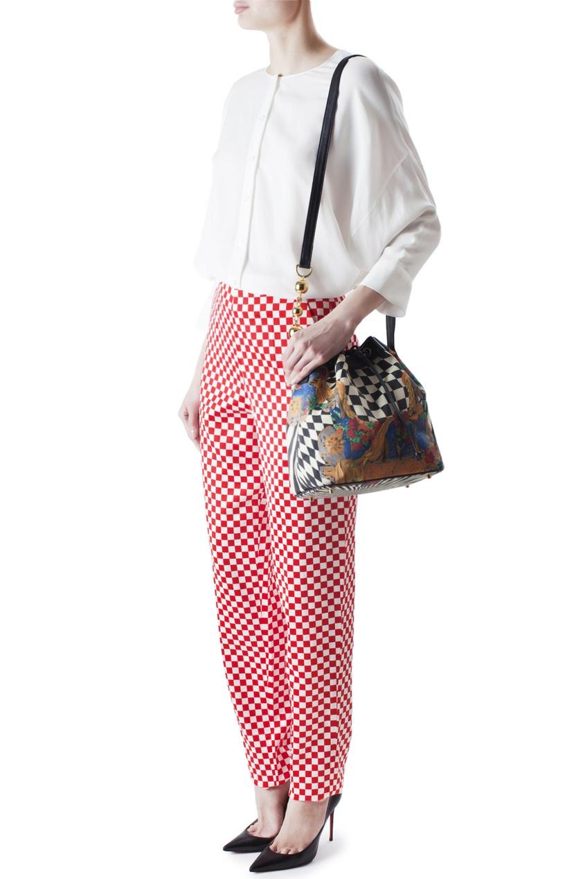 Gianni Versace Vintage Принтованная сумка (90-е гг.) gianni versace vintage шелковая юбка 90 е