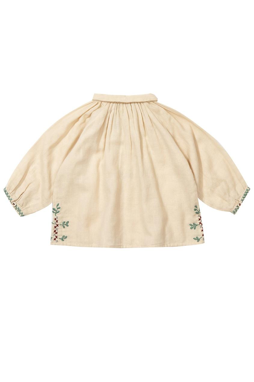 Хлопковая блузка Moss Baby