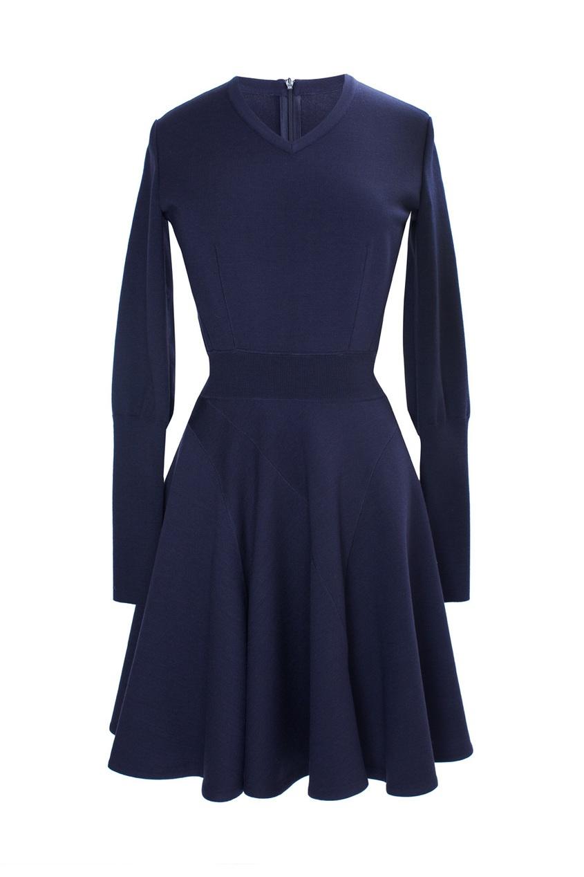 Платье из шерсти и полиэстера