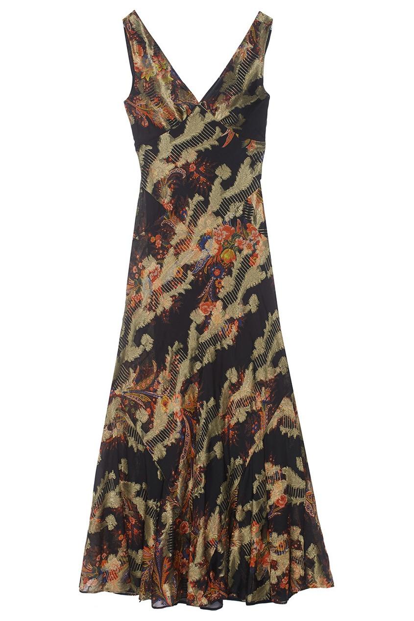 Etro Платье с вышивкой etro футболка с контрастной вышивкой