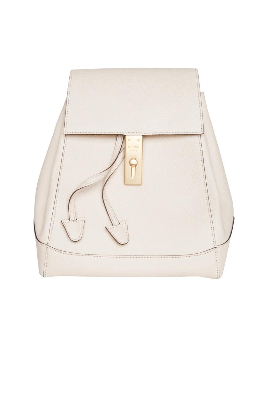 Кожаный рюкзак с матовой золотой фурнитурой (90-е гг.)