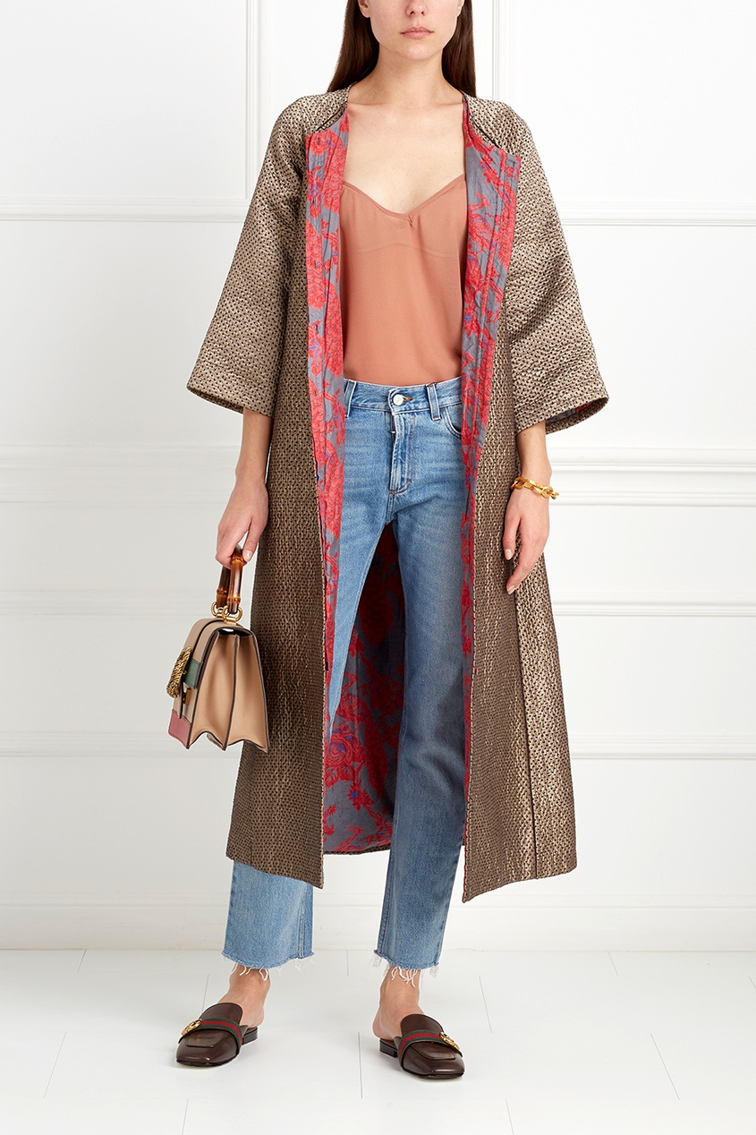 Шелковое пальто Jahanzeb
