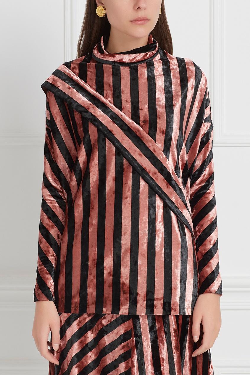 Бархатная блузка