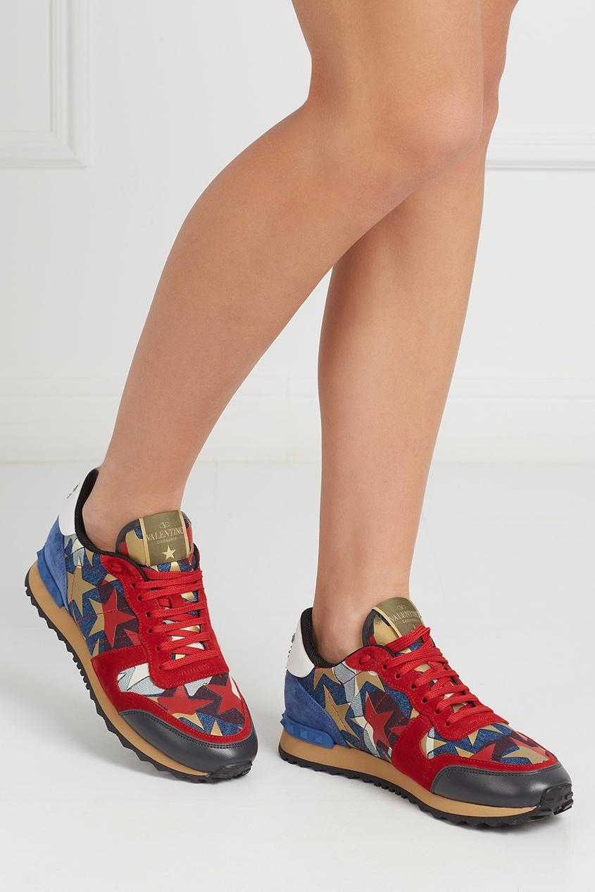 Valentino Замшевые кроссовки Rockrunner