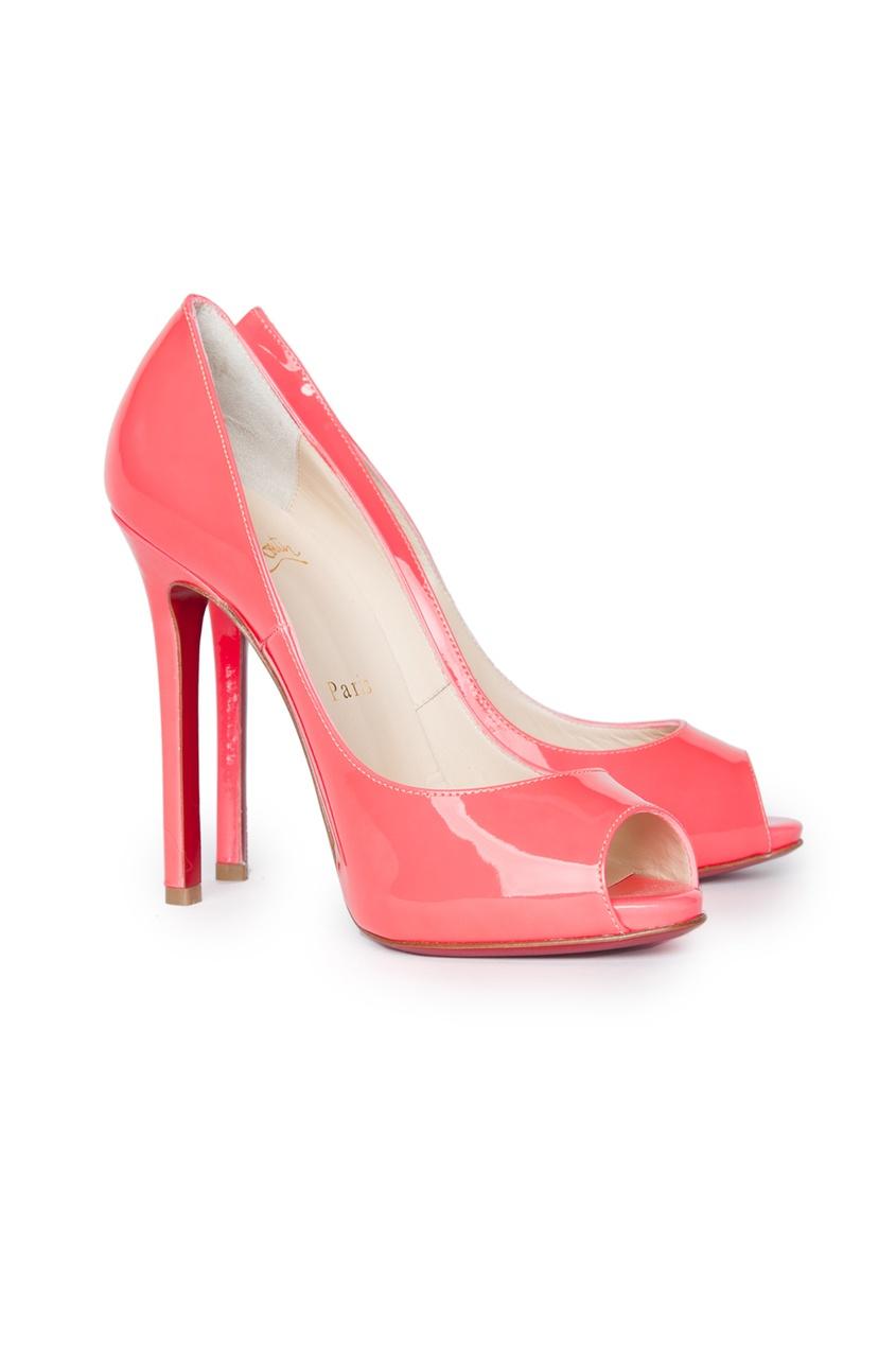 Туфли с открытым носом Flo 120 Patent Fluo