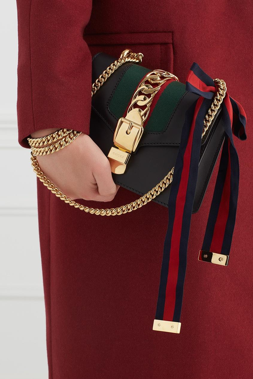 Кожаная сумка Sylvie Mini