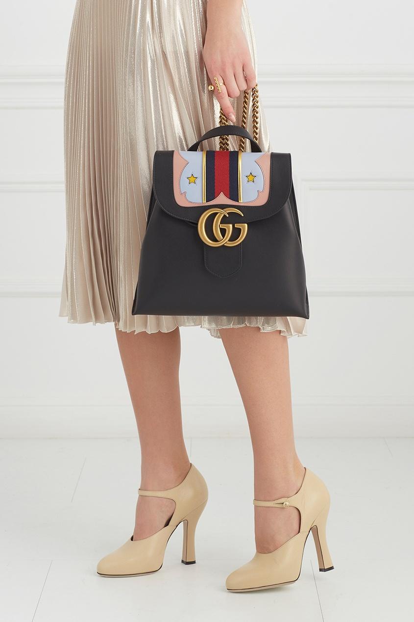 Кожаный рюкзак GG Marmont