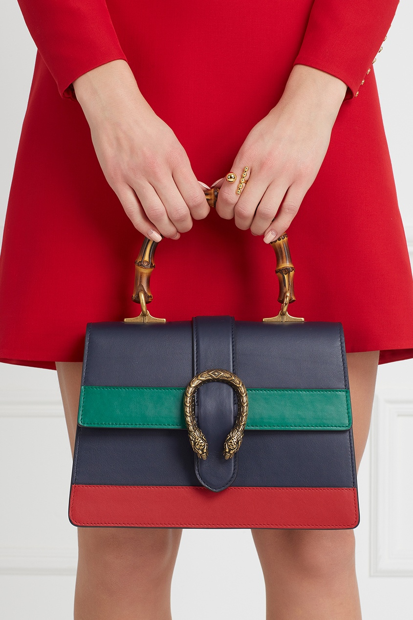 цена Gucci Кожаная сумка Dionysus онлайн в 2017 году
