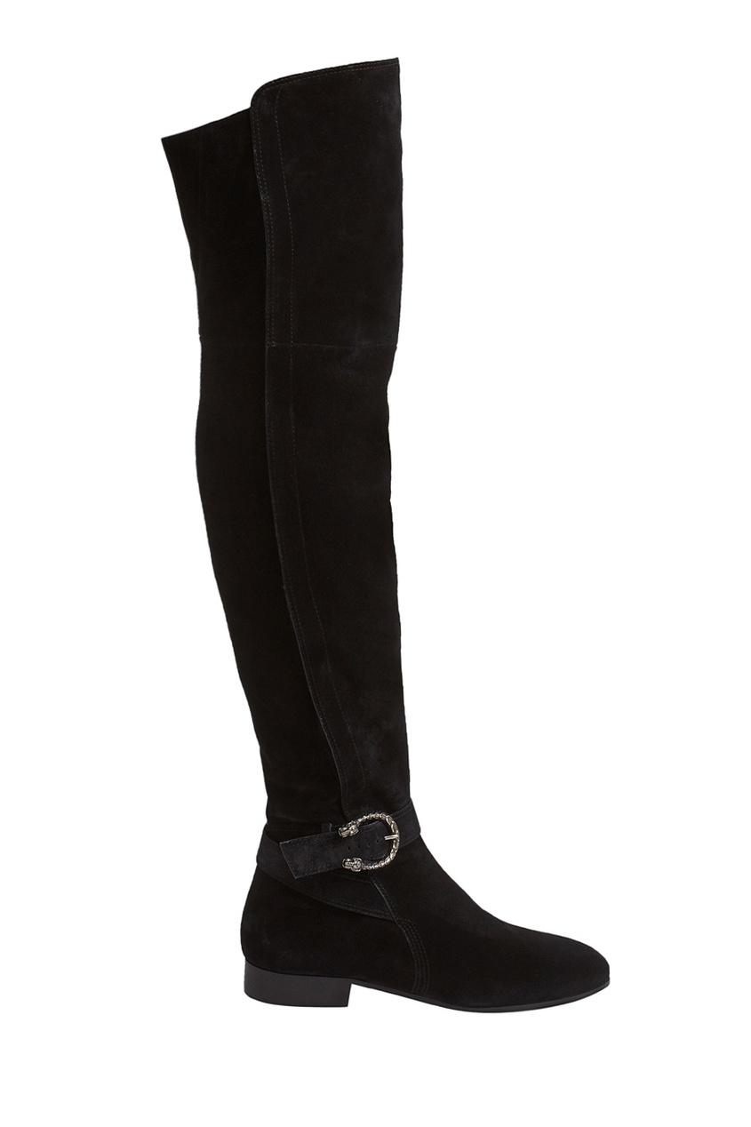Gucci Замшевые сапоги gucci черные сапоги с эластичной деталью