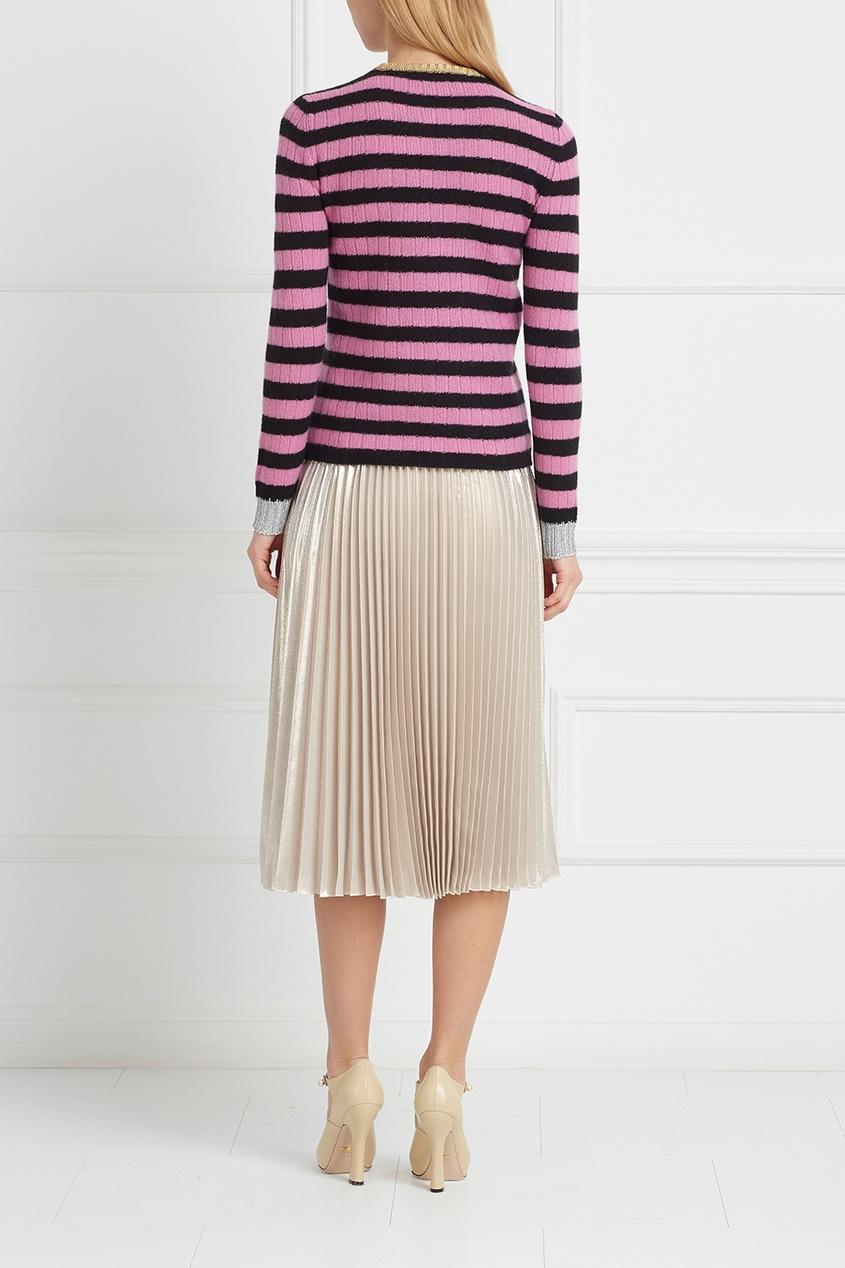 Фото 5 - Шерстяной джемпер от Gucci цвет multicolor
