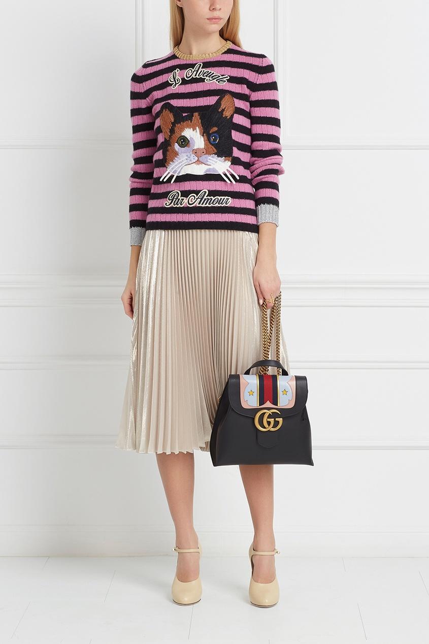 Фото 6 - Шерстяной джемпер от Gucci цвет multicolor