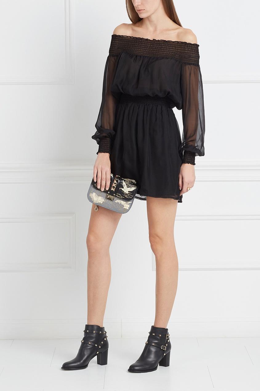 Шелковое платье Haze Off-shoulder