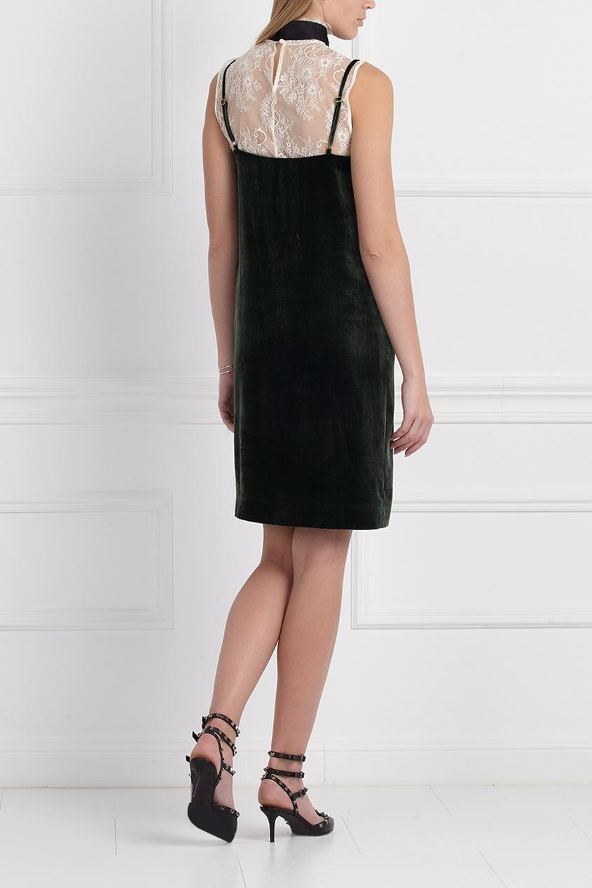Бархатное платье-комбинация от A La Russe