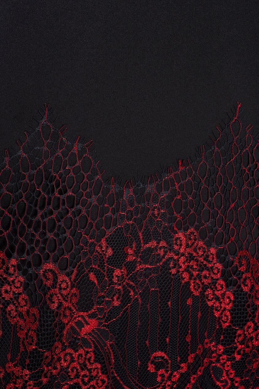 Шелковое платье «Рубин»