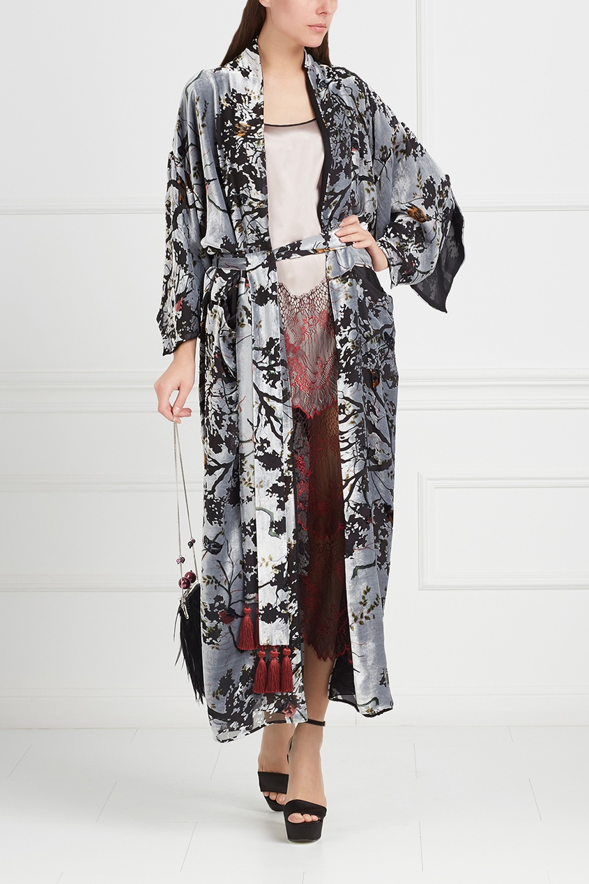 Шелковое платье «Гранат»