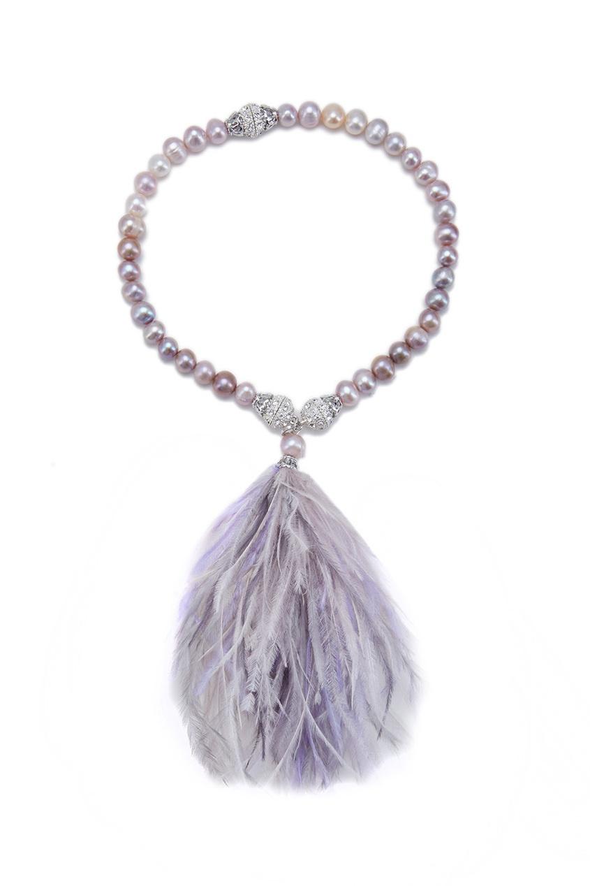 Жемчужный браслет-чокер «Фламинго»