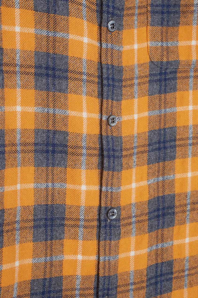 Рубашка из шерсти и хлопка