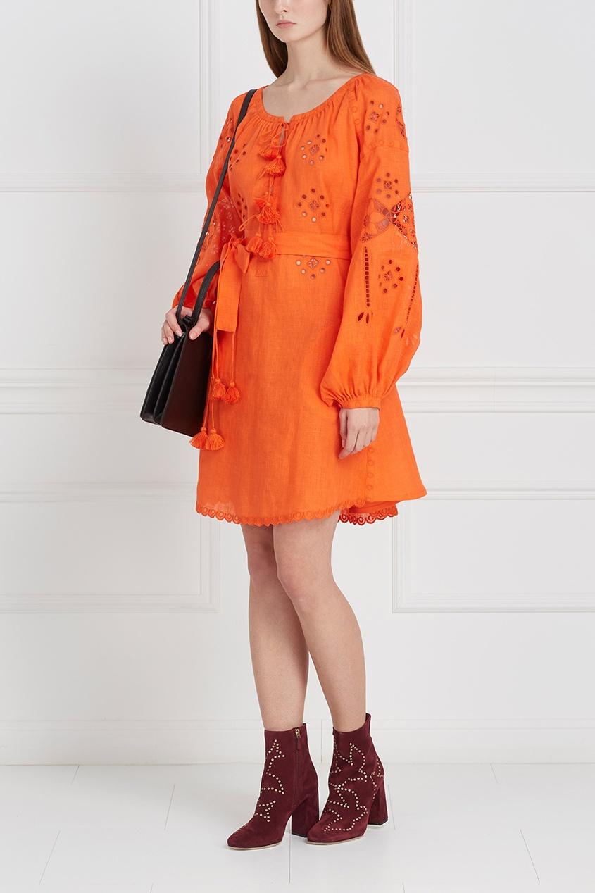 Платье из льна LINEN GARDENS