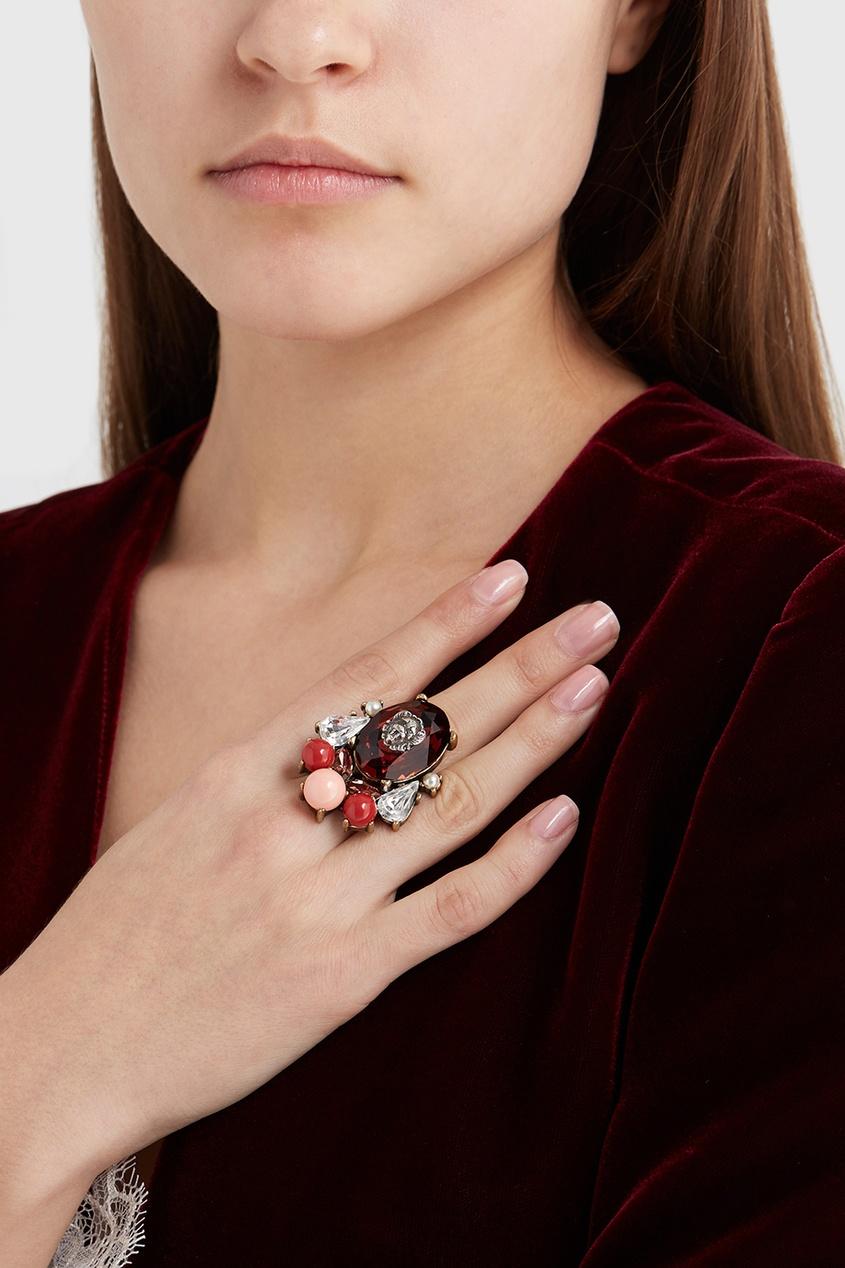 Кольцо с кристаллами Romi