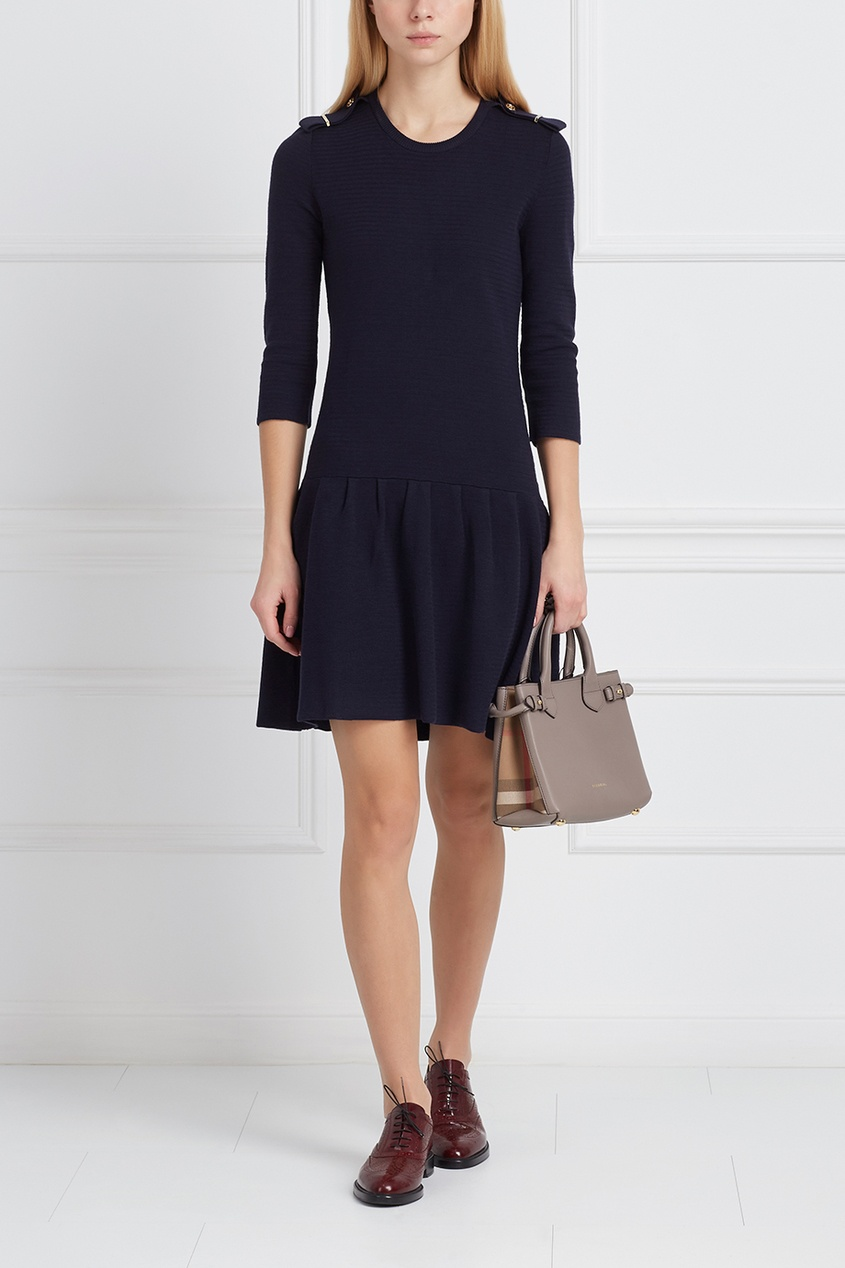 Burberry Платье из хлопка и шелка
