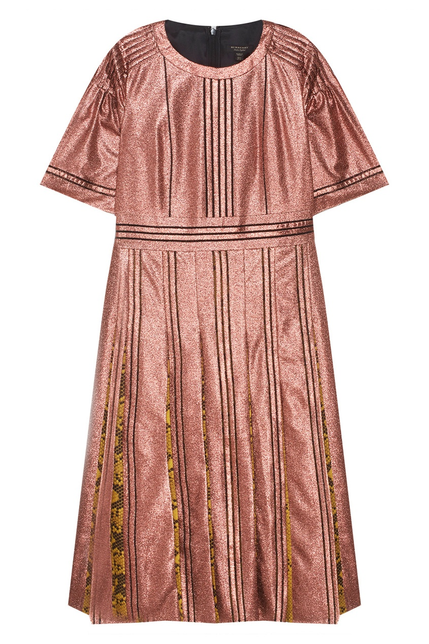 Burberry Шелковое платье купить шарфы burberry в интернете