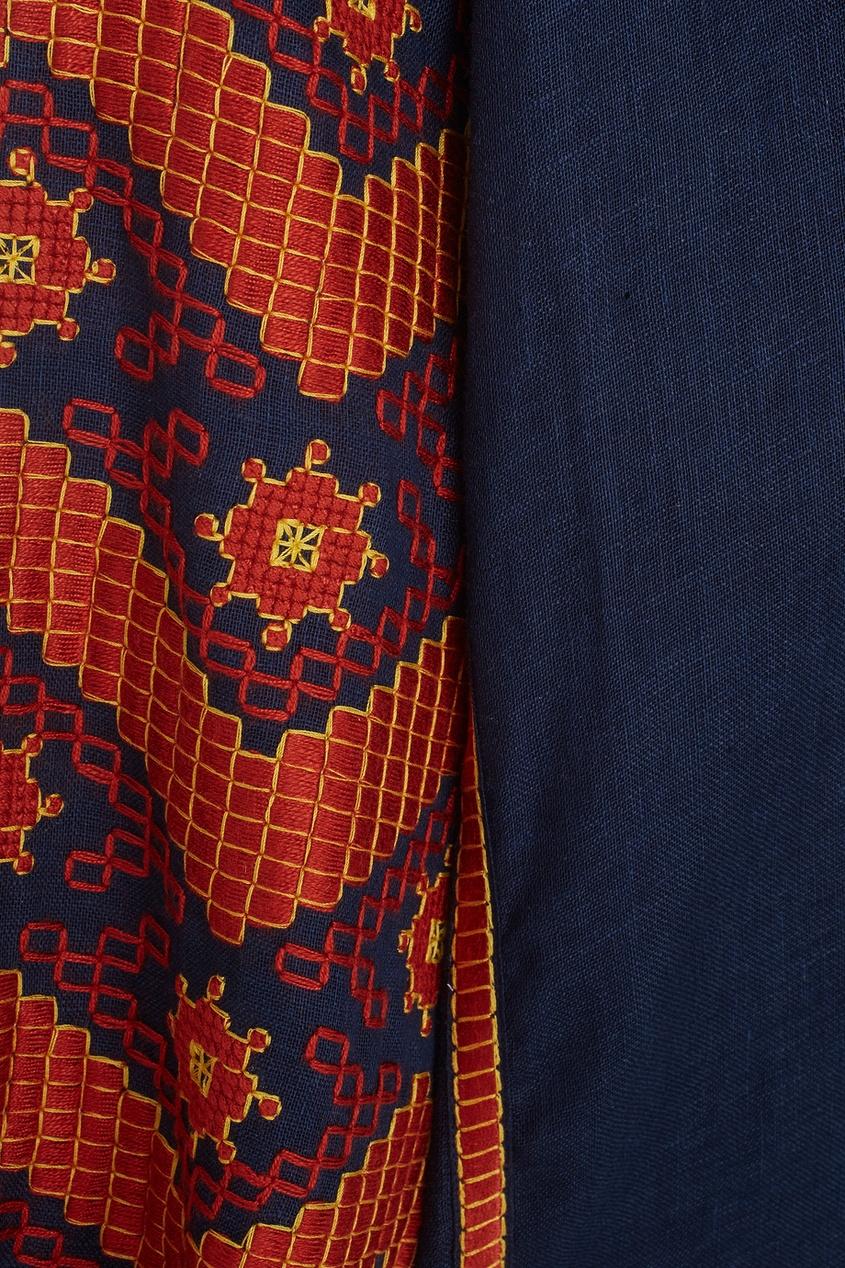 Фото 7 - Блузку из льна LINEN MINA от Vita Kin синего цвета