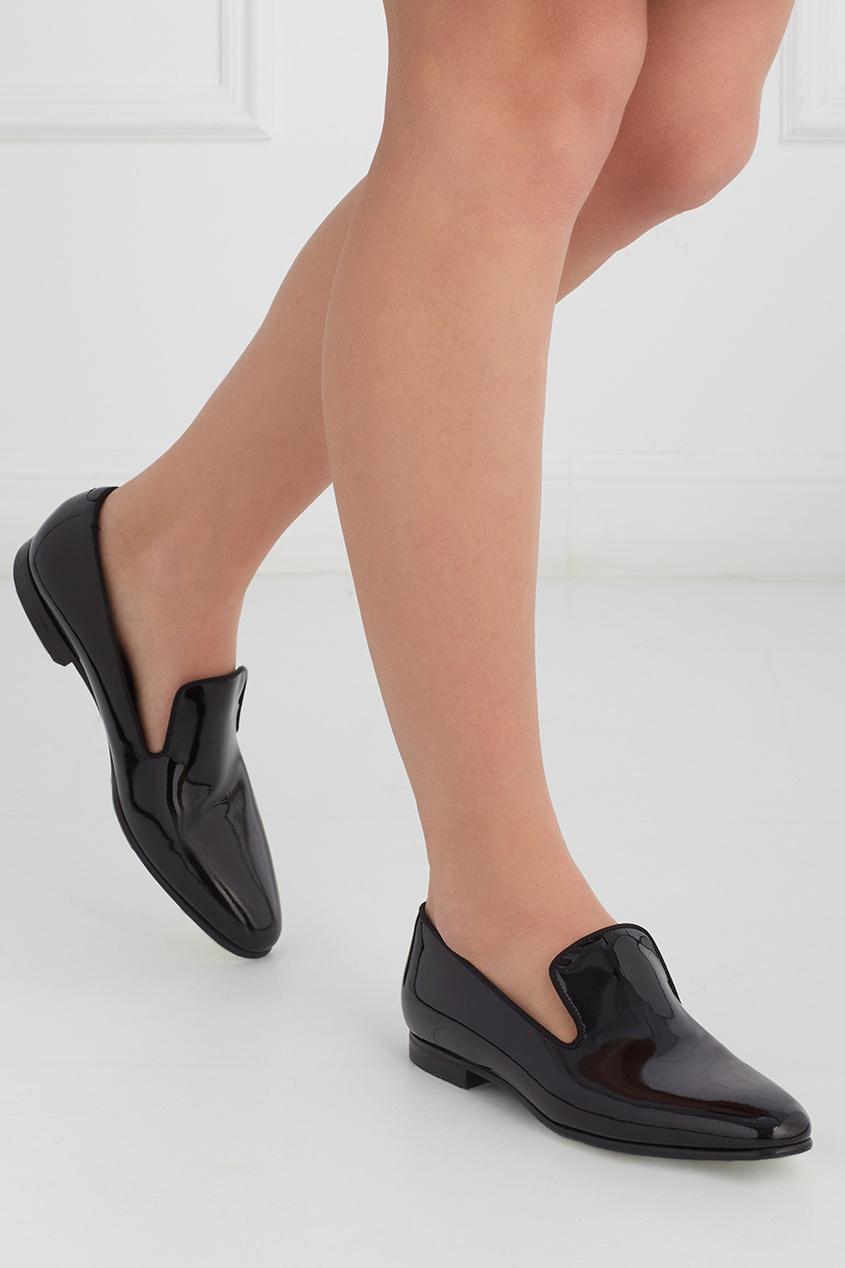 Ботинки из лакированной кожи Loafer