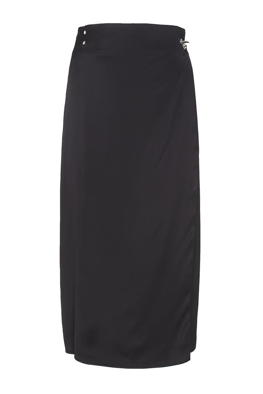Acne Studios Однотонная юбка Palm vi Satin