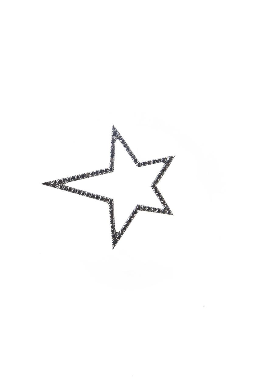 Кулон из белого золота и бриллиантов в виде звезды