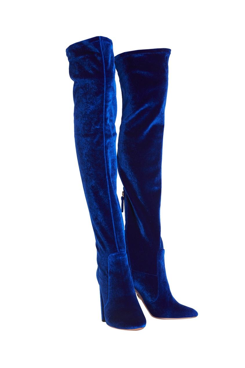 Бархатные сапоги Velvet Thigh High