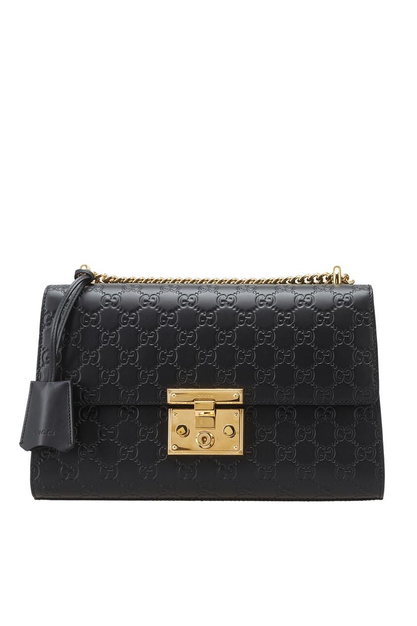 Gucci Кожаная сумка Padlock diesel padlock dz4438