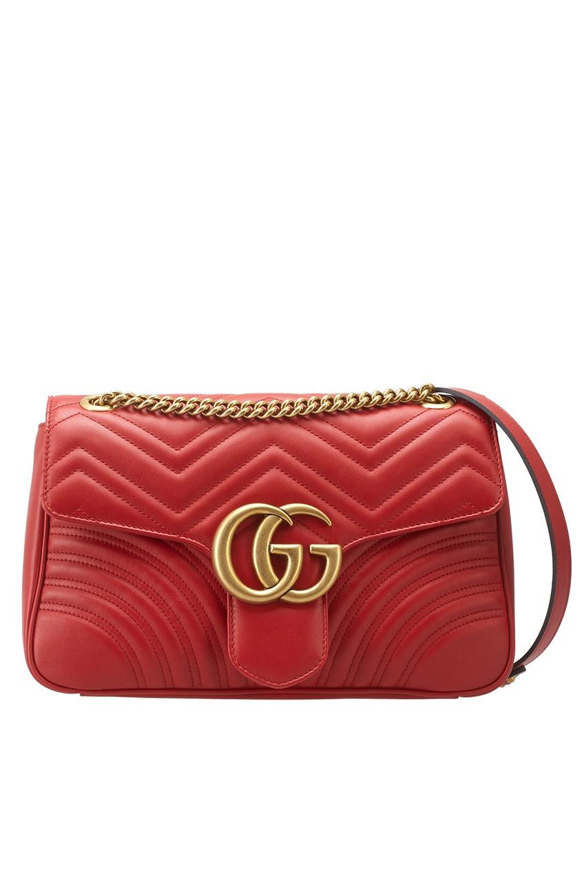 Кожаная сумка GG Marmont