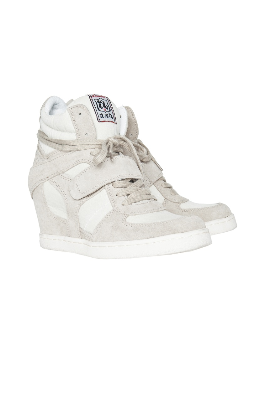 Серые кроссовки на шнуровке со скрытым каблуком Cool
