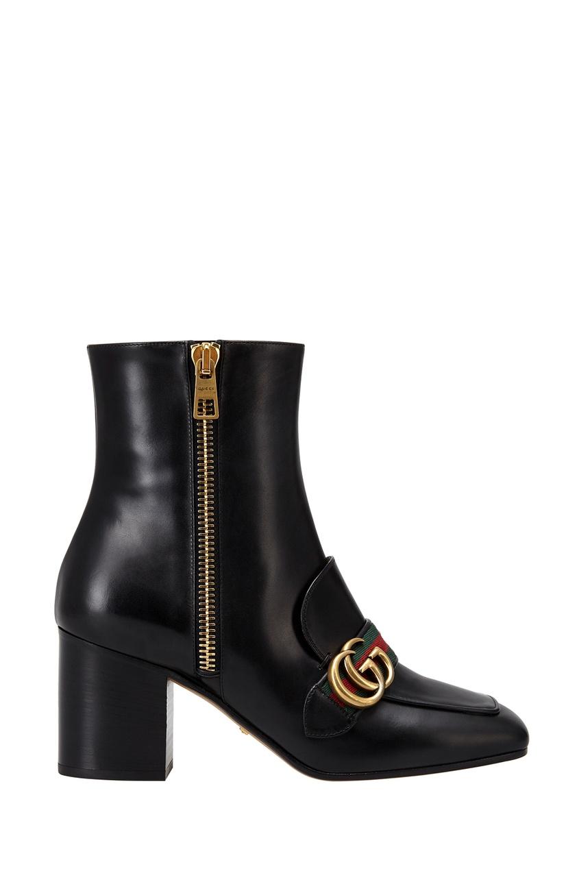 Gucci Кожаные ботильоны цены онлайн
