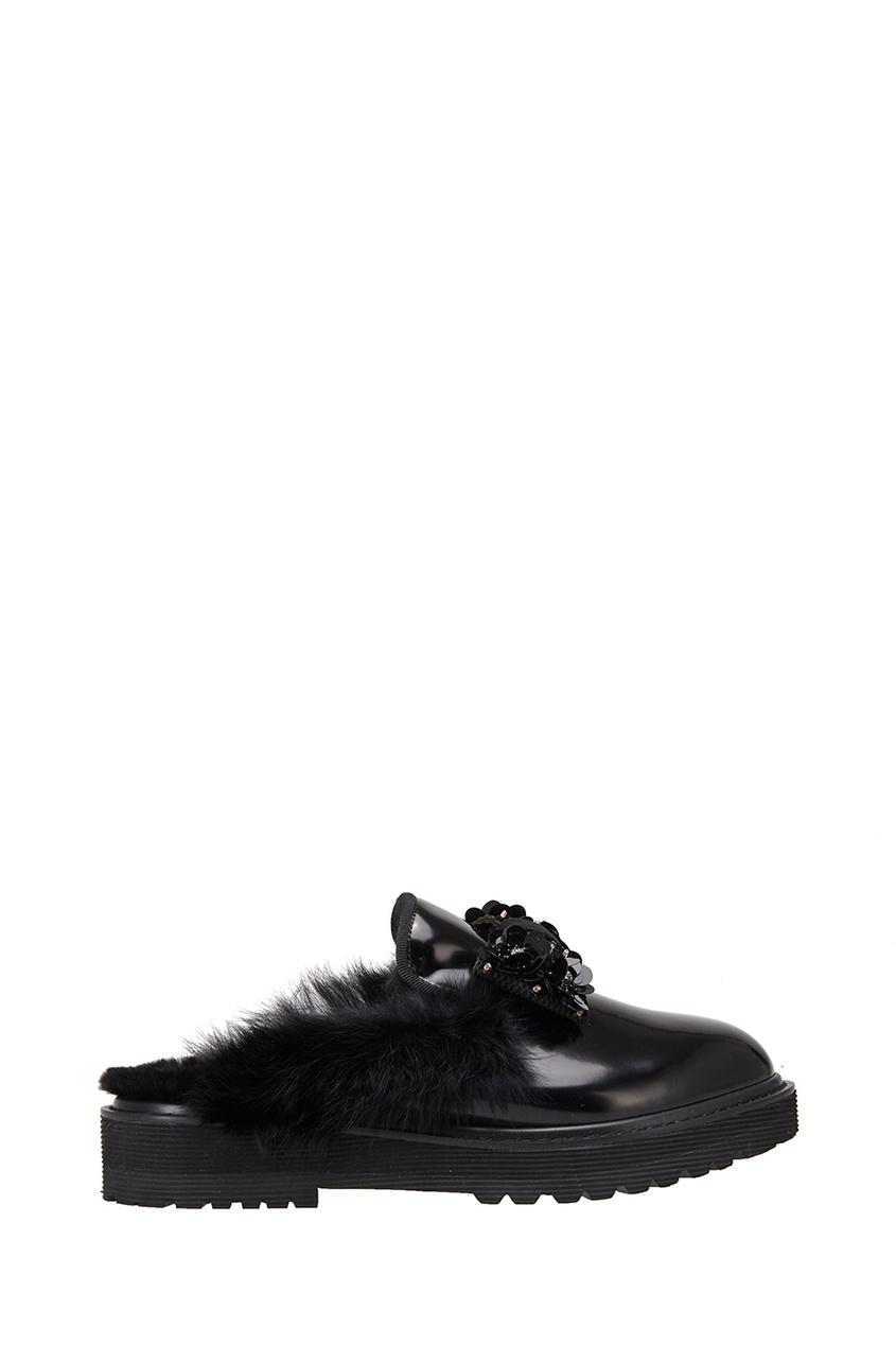 Ботинки с кристаллами