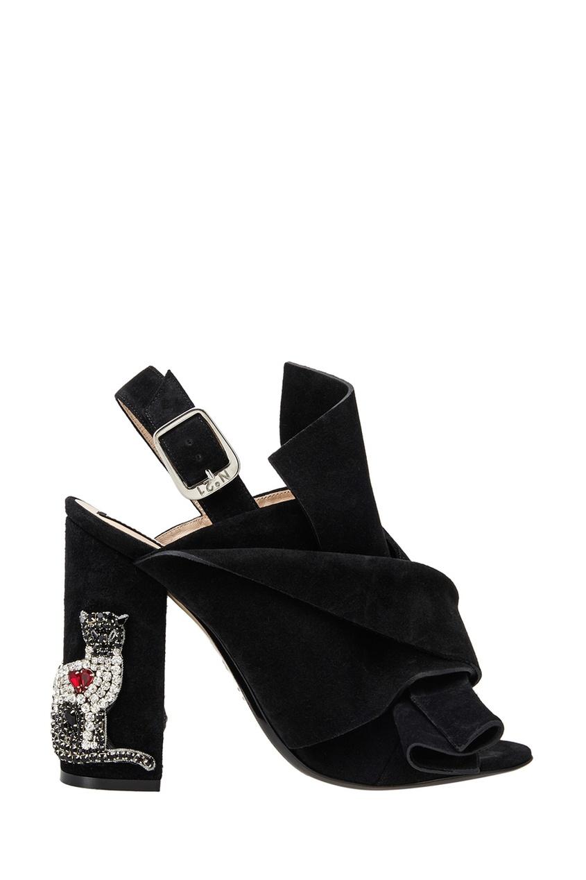 Замшевые туфли-мюли Althea