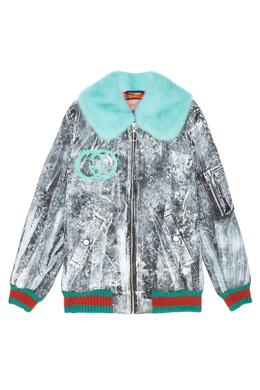 заказать Куртка Gucci Ghost с мехом норки