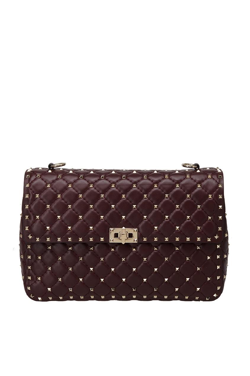 Valentino Стеганая кожаная сумка Rockstud valentino кожаная сумка rosso rockstud