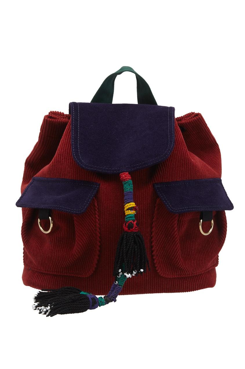 Вельветовый рюкзак