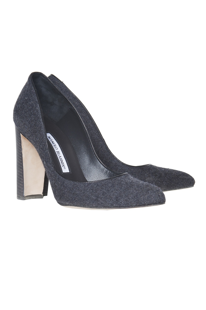 Темно-серые туфли на устойчивом каблуке Neurotica.