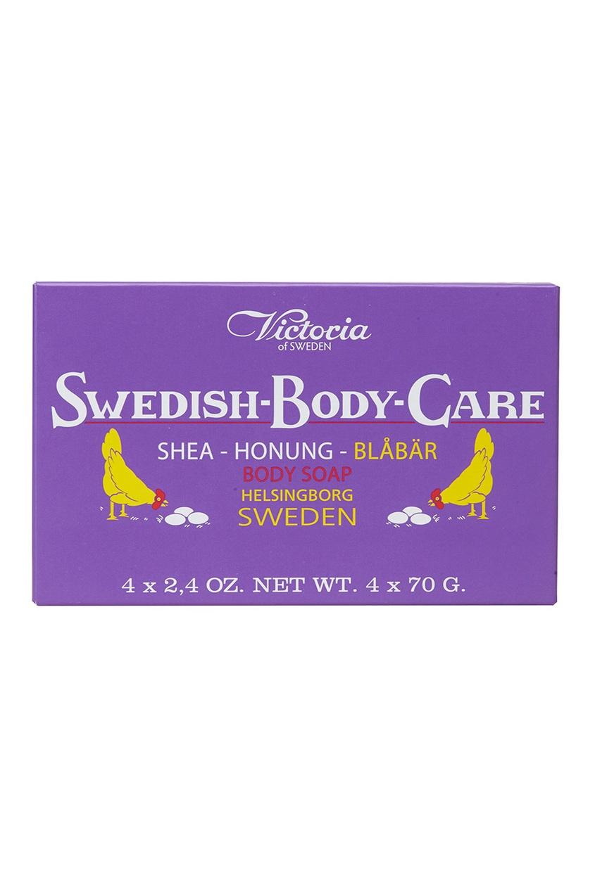 Victoria Soap Мыло для тела Shea-Honung-Blabar «Черника» 4x70gr victoria soap подарочный набор черника