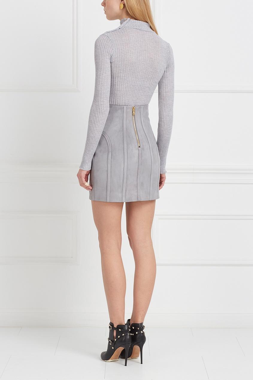 Balmain Замшевая юбка
