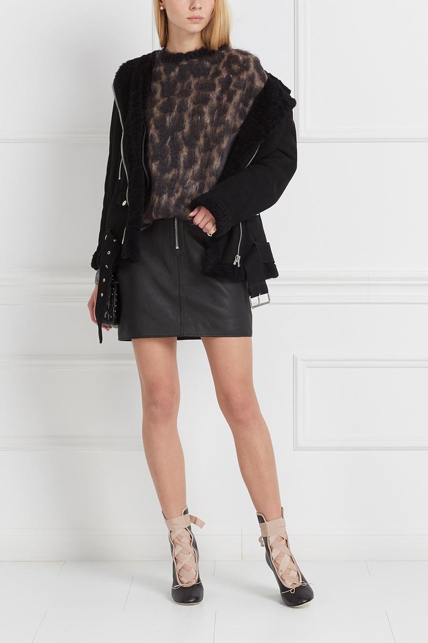 Кожаная юбка Franca