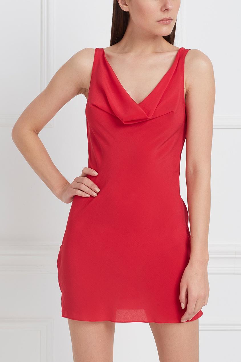 Фото 3 - Платье Vallerie красного цвета