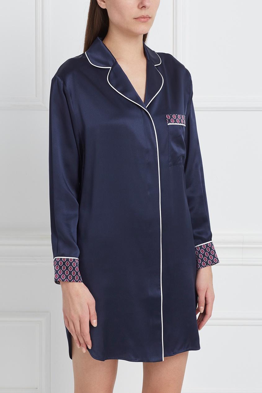 Шелковая ночная сорочка Poppy