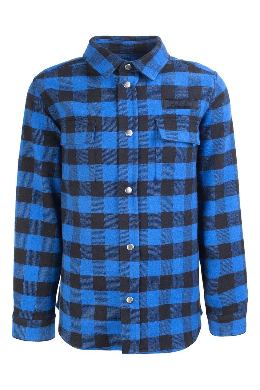 Fendi Children Рубашка в клетку рубашка в клетку dc atura 3 atura black