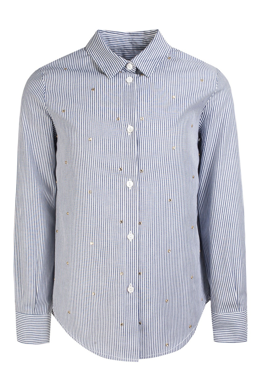 цена  Ermanno Scervino Children Хлопковая рубашка  онлайн в 2017 году