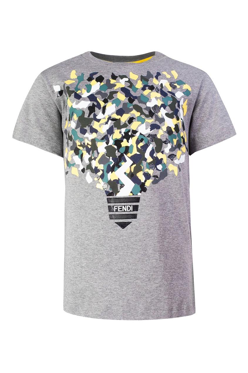Fendi Children Хлопковая футболка fendi ремень от fendi 99255