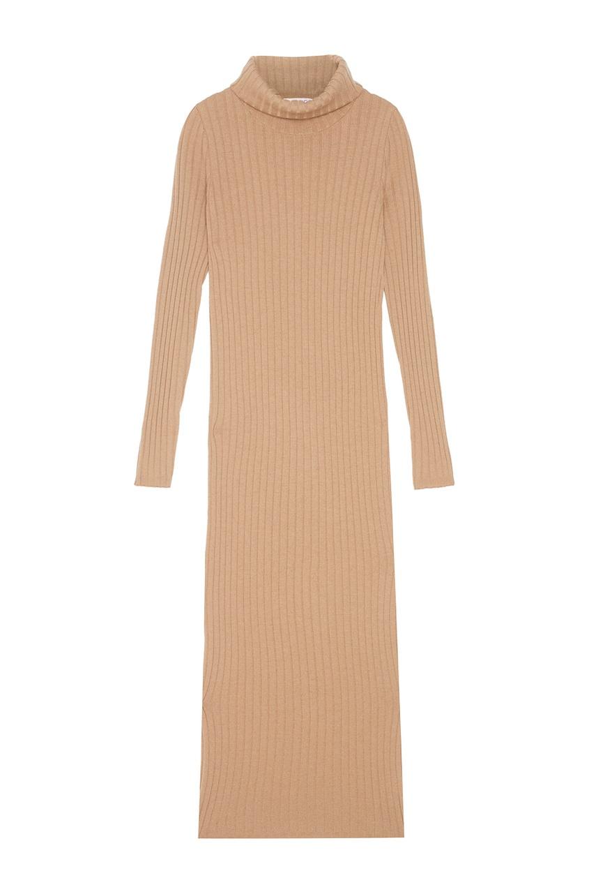 Платье из шерсти мериноса с кашемиром