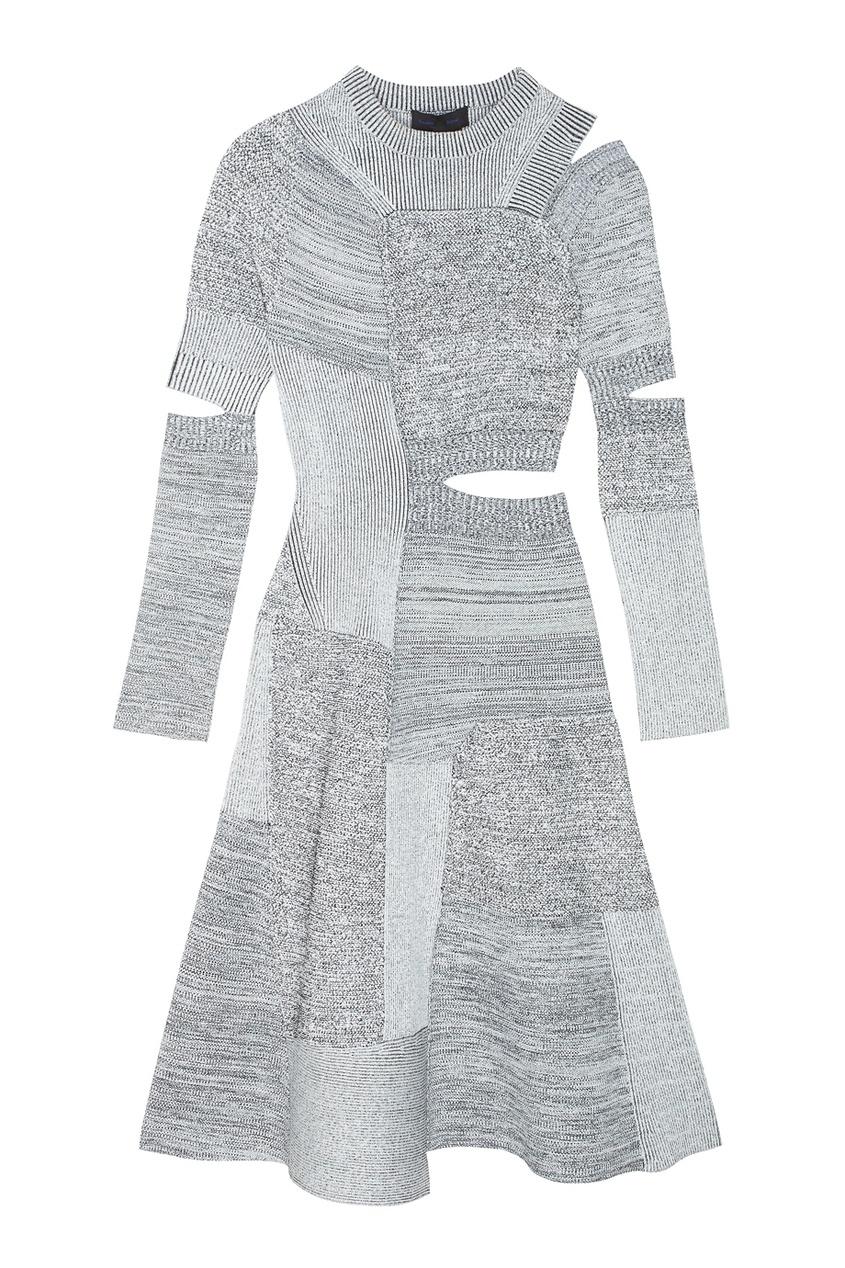 Proenza Schouler Трикотажное платье с разрезами